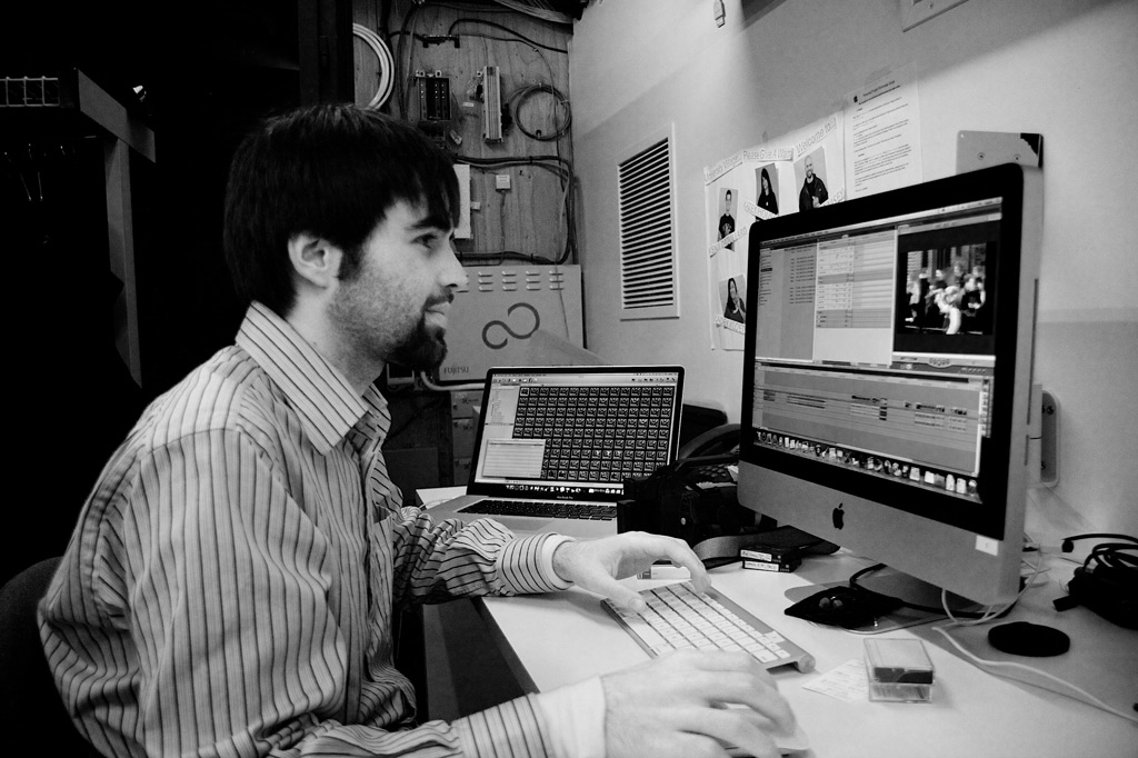 Aaron editing footage in Final Cut Pro